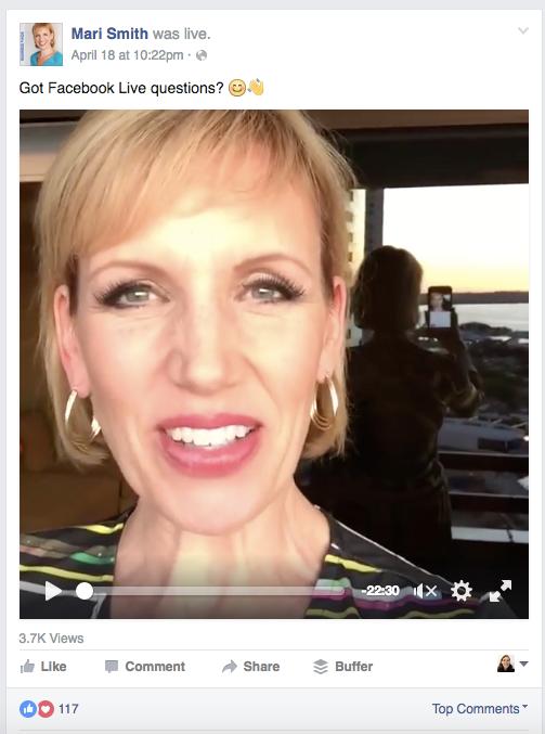 Mari Smith Creates Facebook Live Content