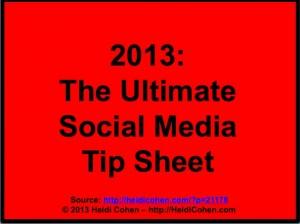 101 Social Media Tips