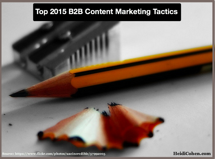 2015 B2B Content Marketing Tactics