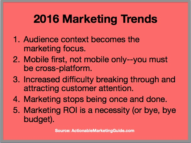 2016 Marketing Trends - 5 Key Trends