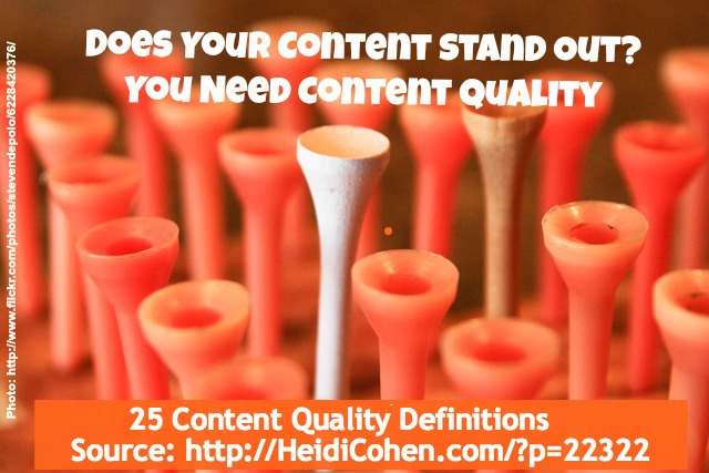 25 Content Quality Definition