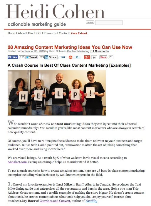 28 Amazing Content Marketing Ideas You Can Use Now - Heidi Cohen-1