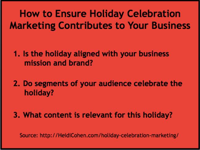 Holiday celebration marketing