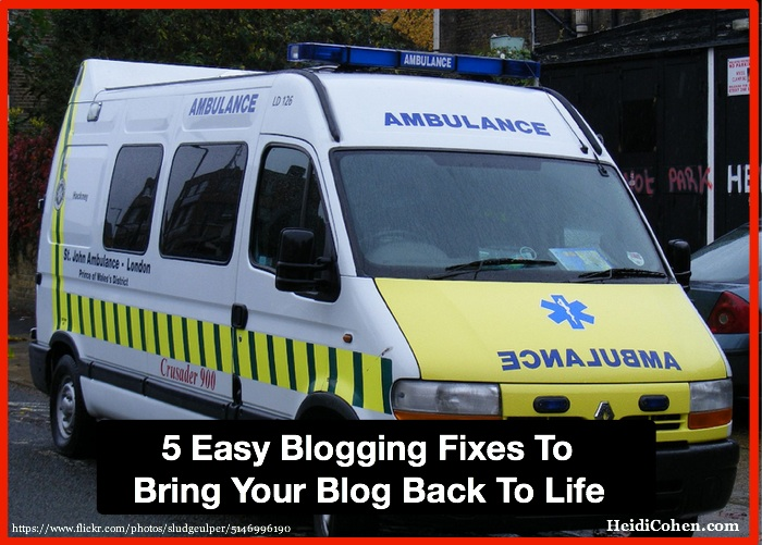 5 Easy Blogging Fixes To Bring Your Blog Back To Life