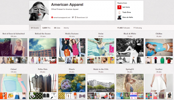 American Apparel  Pinterest