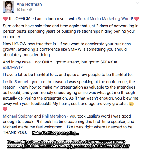 SMMW17 Facebook Note
