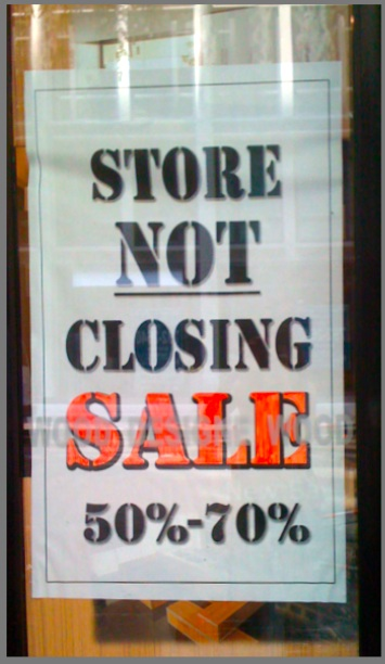 Best sale ever-marketing promotions-store not closing sale