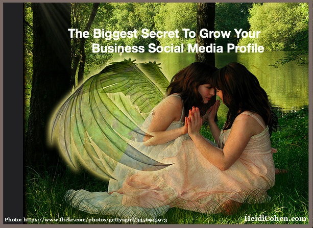 Biggest Secret to Growing YOur Business Social MEdia Profile