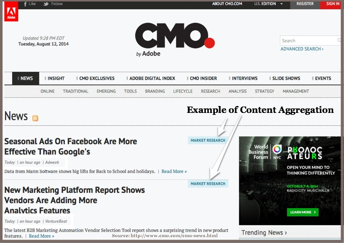 CMO-Content Aggregation Example-2