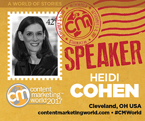 Join me at Content Marketing World