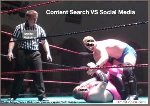 content search vs social