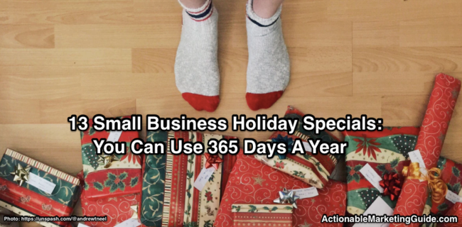 Small Business Holiday Specials