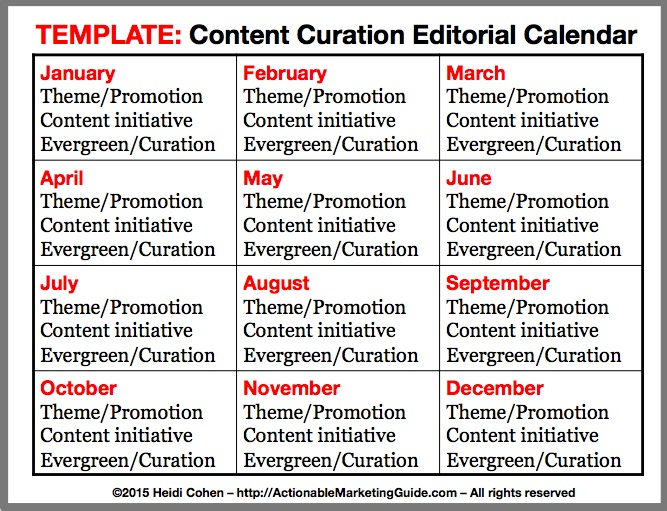 How To Develop Your Content Curation Editorial Calendar - Heidi Cohen