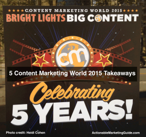 Content Marketing World Sign
