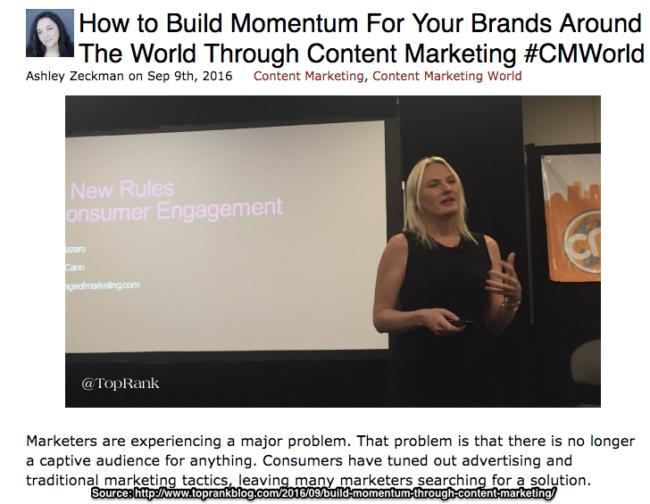 Live blogging conference content