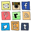 Dindin free social media icons