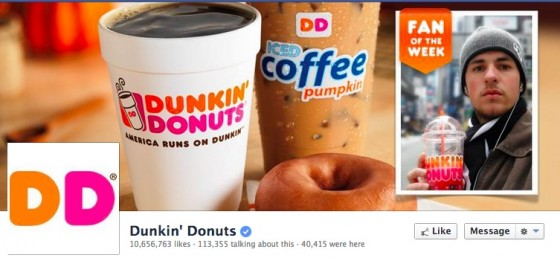 Dunkin_ Donuts Facebook Timeline  Photo with Fan of the Week