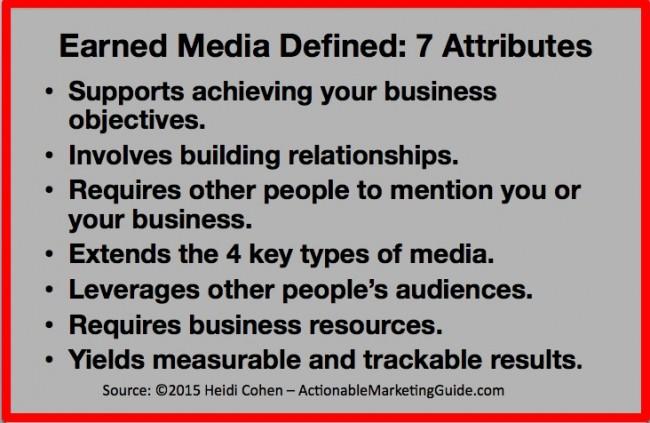 Earned media definition