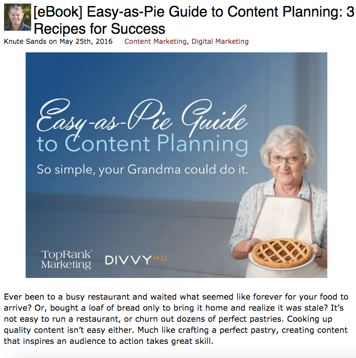 easy as pie guide to content republishing