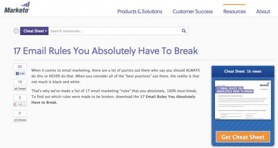 Email Cheat Sheet-Marketo