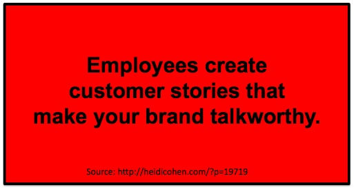 Employees create customer stories