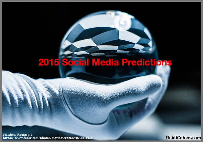 2015 Social Media Predictions