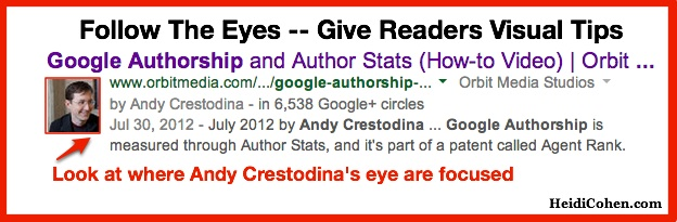 Follow His Eyes-Andy Crestodina Via Heidi Cohen