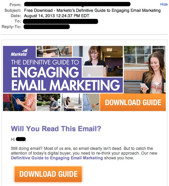 Free Download - Marketo's Definitive Guide to Engaging Email Marketing — Inbox-1