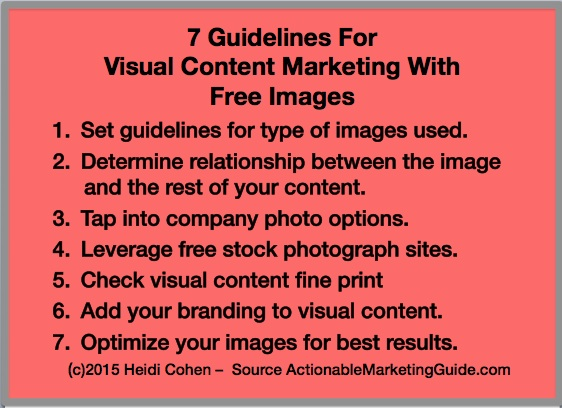 Guidelines for Visual Content Marketing With Free Images
