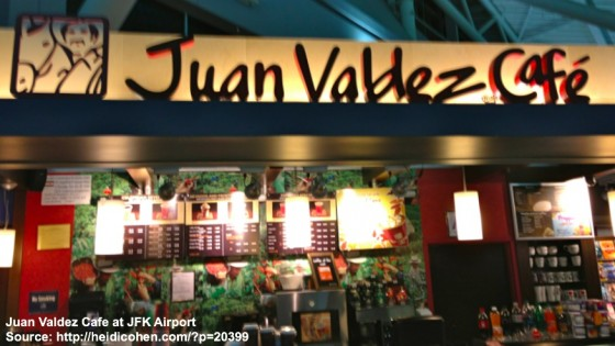 Juan Valdez Cafe at JFK Airport -Heidi Cohen