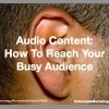 Man Ear-Audio Content
