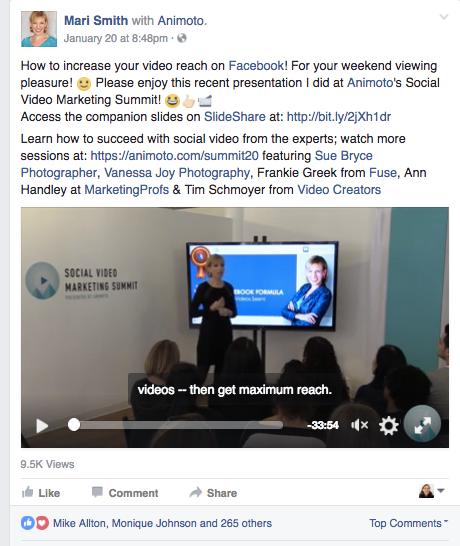 2017 Facebook Video TIps