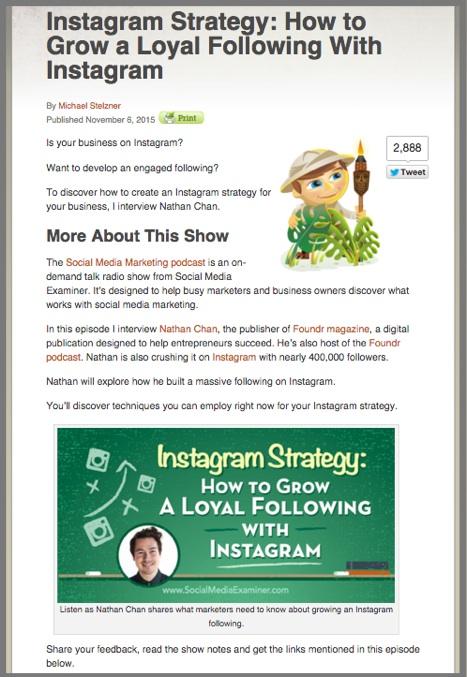 Mike Stelznedr fills the Friday blog spot in Social Media Examiner's editorial calendar