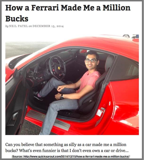 Neil Patel in a Ferrari-1