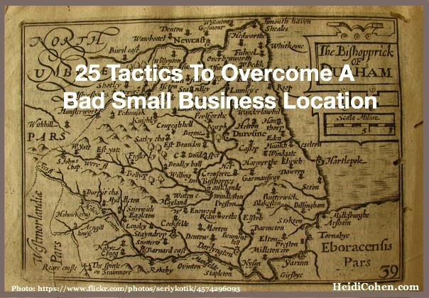 Overcome a bad small business location
