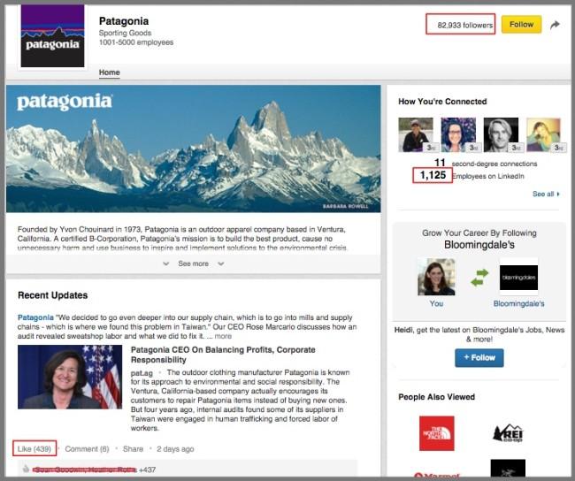 B2C Social Media Use-Linked In