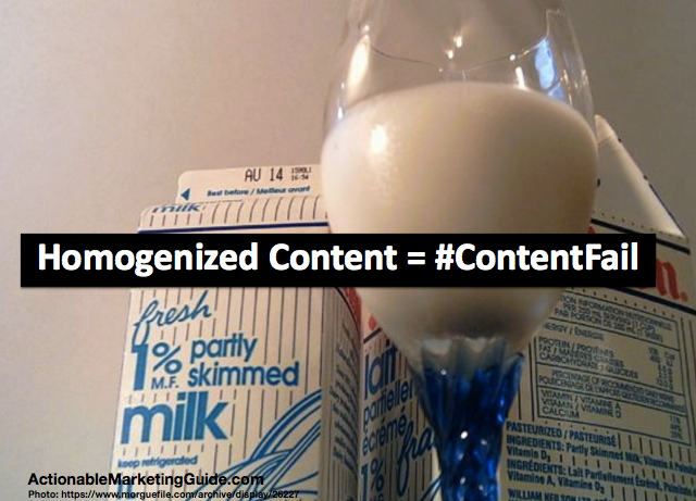 Homogenized Content is a content fail