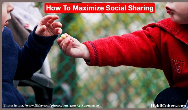 Maximize social sharing