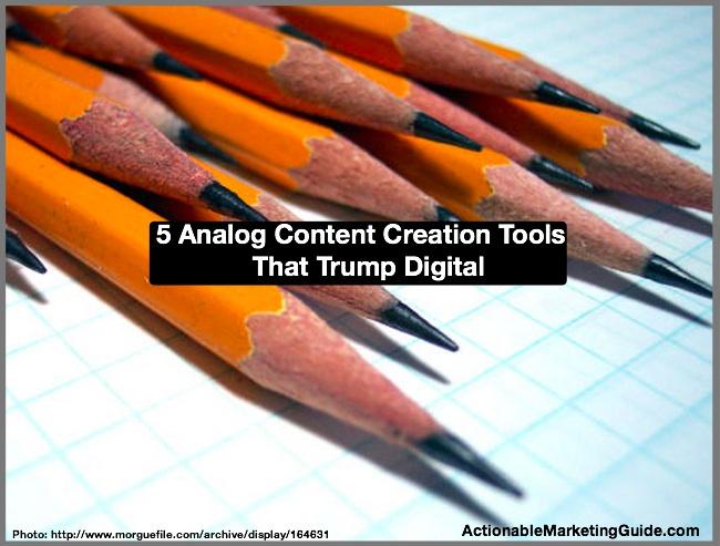Analog Content Creation Tools
