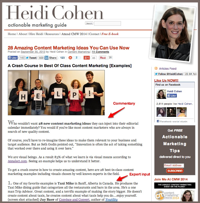 Social Content-Co-create Round Up Post - Heidi Cohen