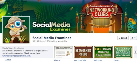 Social media Examiner branding continues onto Facebook page