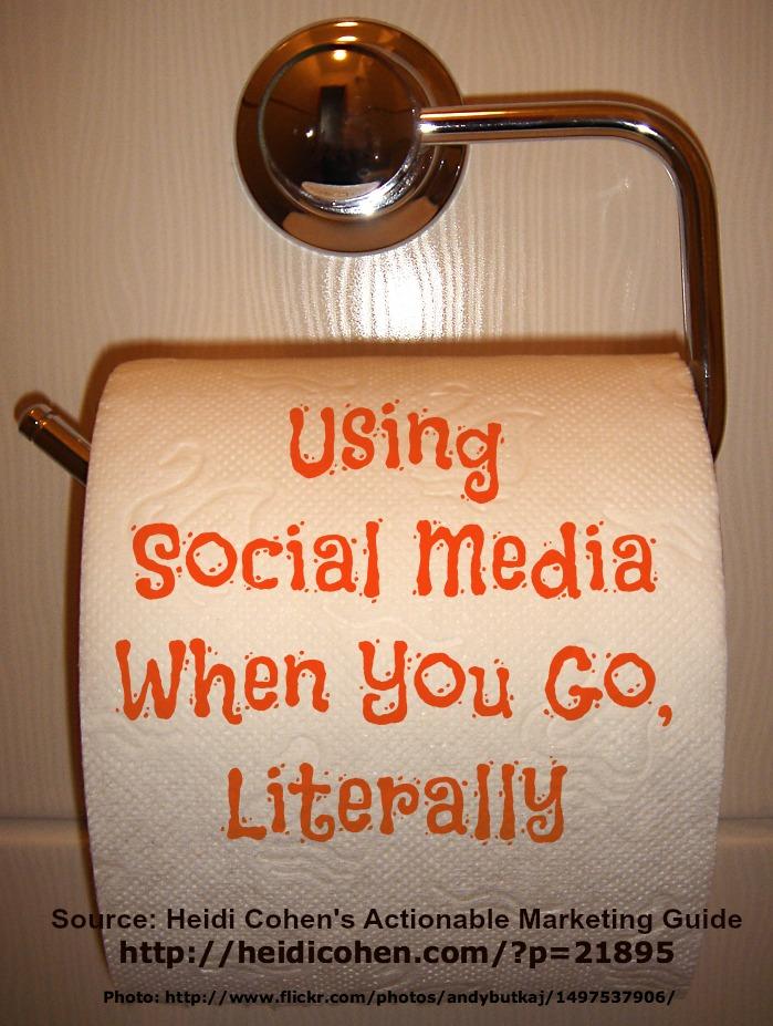 Using social media in the bathroom
