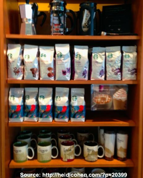 Starbucks Merchandise in Lima Peru -Heidi Cohen