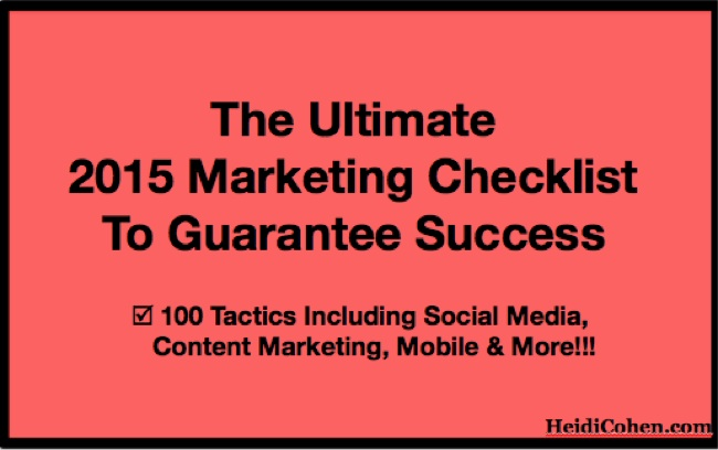 Ultimate 2015 Marketing Checklist to Guarantee Success-1