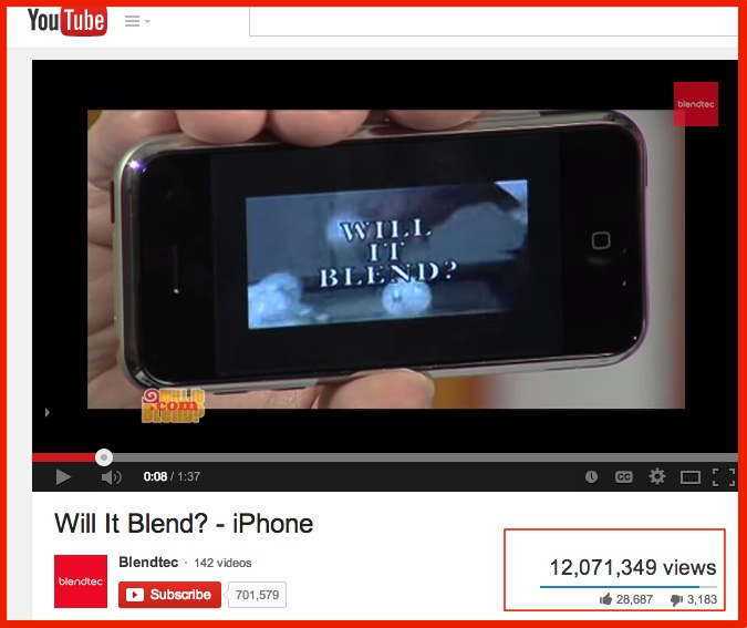 Will It Blend- YouTube-SOcial Media pLatform 2014-1