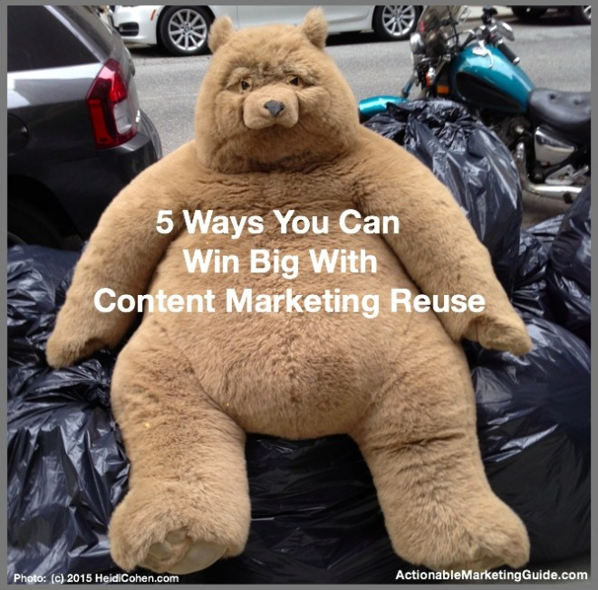 Win Big With Content Marketing Reuse-Heidi Cohen