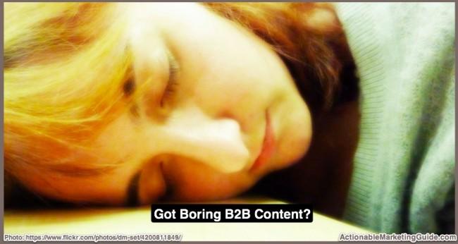 Yawn-Boring B2B Content