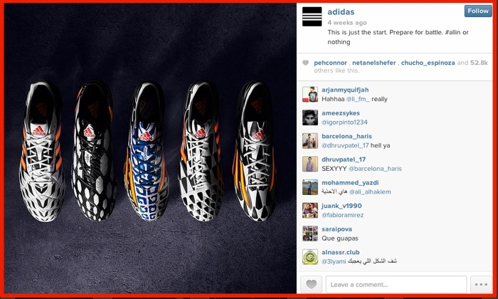 Instagram Visual Content Marketing - Adidas