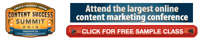 Attend the largest online content marketing conference