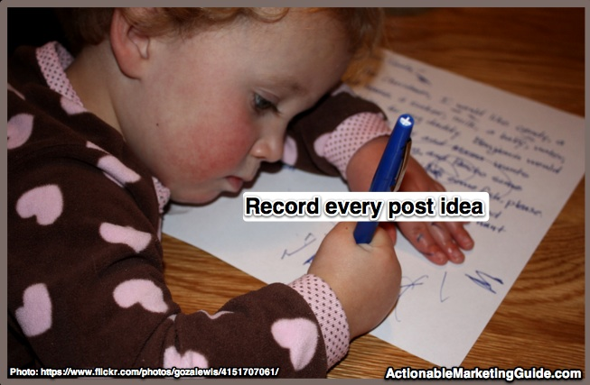 Record every blog post idea before they fly away - Heidi Cohen